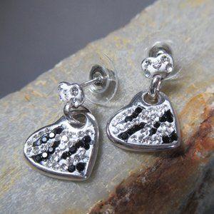 Wild At Heart Sterling Silver Earrings Zebra